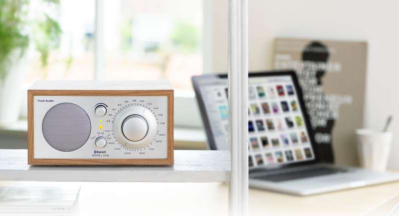 Tivoli Audio Model One radio in cherry silver from Totally Wired